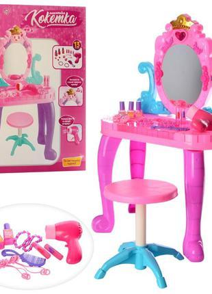 Детский туалетный столик 661-39, стульчик.