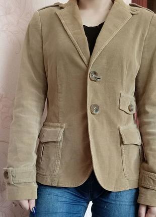 Вельветовый женский пиджак