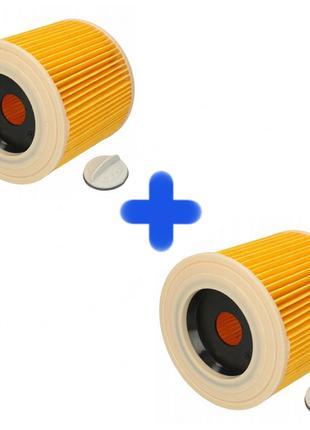 2 Фильтра HEPA для пылесосов Karcher WD2