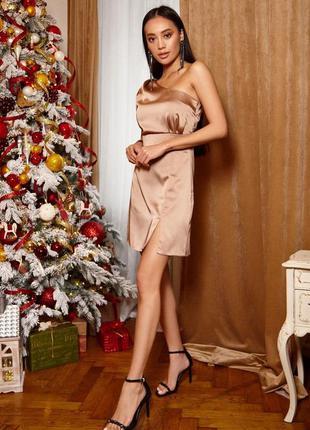 Платье королевский атлас 85 см золото