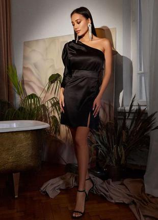 Платье королевский атлас 85 см чёрный
