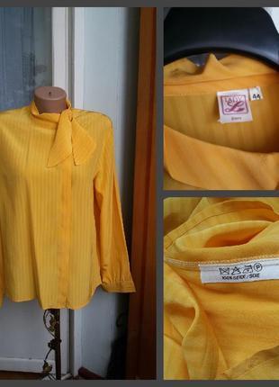 Шелковая рубашка lady zurich 100% натуральный шелк винтаж
