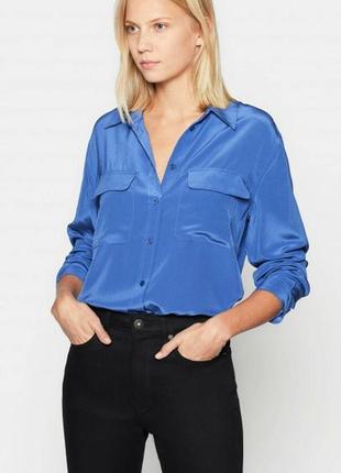 Шелковая рубашка lineav 100% шелк