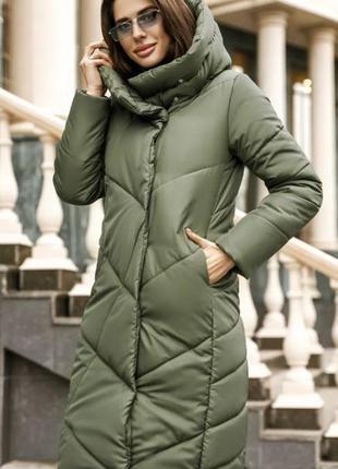 Зимняя женская молодежная куртка, цвета хаки, пудра,черный. ра...