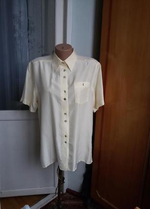 Шелковая рубашка devile 100% шелк