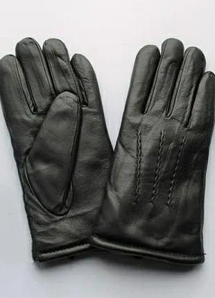 Перчатки кожаные мужские зимние на меху