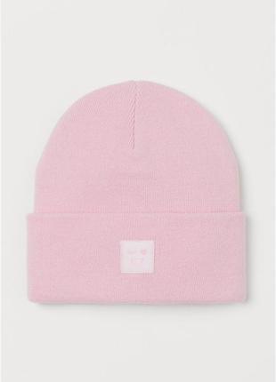 Стильные теплые шапочки h&m акрил девочкам
