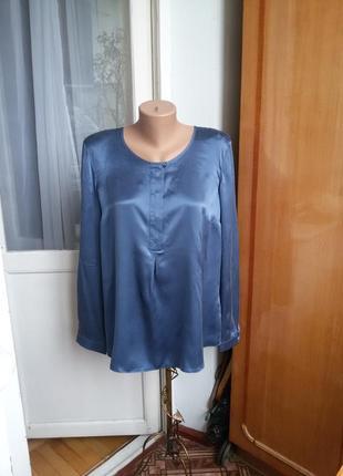 Роскошная шелковая блуза gerry weber 100% натуральный шелк
