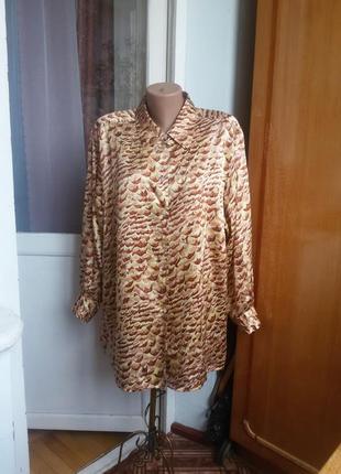 Шелковая рубашка peter hahn carat collection большой размер 10...