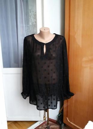 Роскошная шелковая блуза 100% шелк