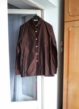 Шелковая рубашка soie 100%  шелк