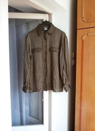 Шелковая рубашка yessica 100% шелк