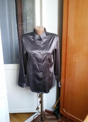Шелковая рубашка madeleine 100% шелк