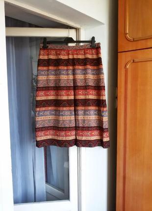Шелковая юбка jacques  fath 100% шелк