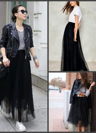 Трендовая пышная фатиновая юбка nly eve