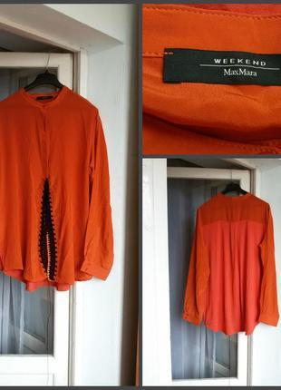Шелковая блуза max mara weekend