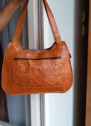 Эксклюзивная кожаная сумка ручной работы 100% кожа