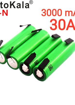 18650 аккумулятор Liitokala VTC6 30А 3000мАч с отводами.Оригинал!