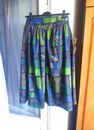 Пышная юбка 100% тайский шелк