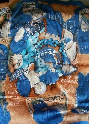 Большой платок винтаж contessa da vinci di parma italy  86*86