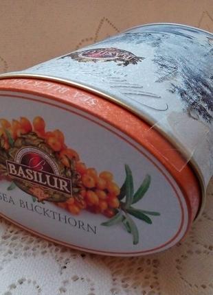 Жестяная банка Basilur чай кофе специи коробка баночка для чая