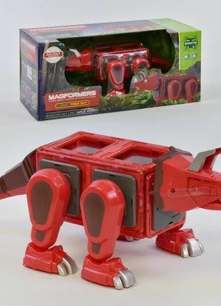 Конструктор магнитный динозавр