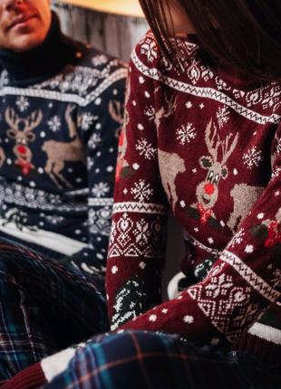 Новогодние свитера! Отличный подарок! + Подарочная упаковка!