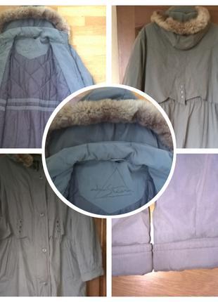 Осенне-зимняя женская куртка/пальто большого размера 56