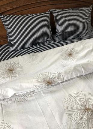 Постельное белье одуванчик полоска в наличии
