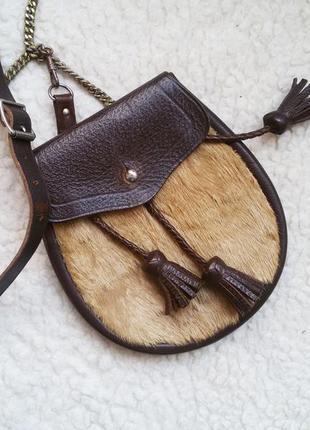 Эксклюзивная кожаная сумка / сумочка кросс боди / 100% кожа + ...