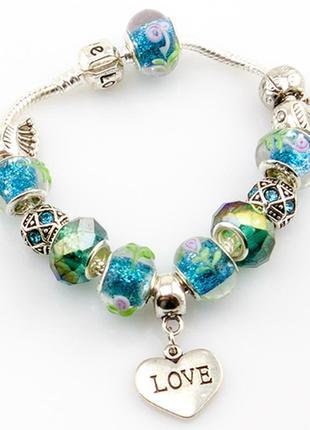 Модные браслеты в стиле пандора pandora. шармы уже включены в ...