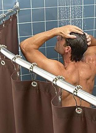 Карниз для ванной POLO  - штанга угловая и дугообразная