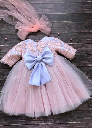 Нежное кружевное платье для девочки