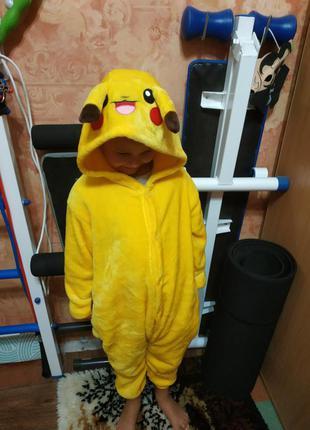 Новогодний карнавальный костюм покемон на 5-7 лет