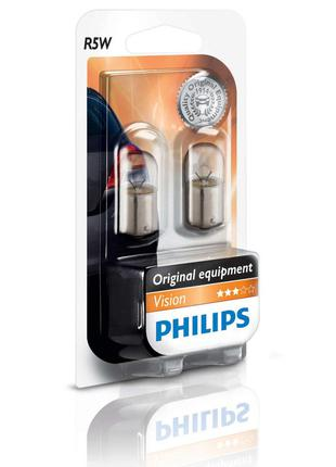 Комплект автоламп Philips Vision R5W/W5W