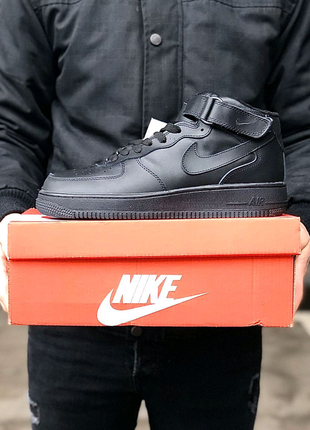 Кросівки Nike Air Force 1 '07 Mid Black