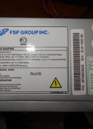 FSP ATX-600PNR 600w P4, 24pin+8pin+6pin+2pin+6pin+2pin, w/Sata