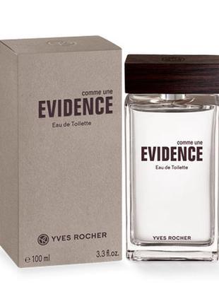 Мужская туалетная вода Evidence 100мл Ив Роше Yves Rocher