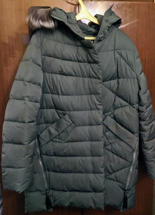 Куртка женская мех чернобурки пух