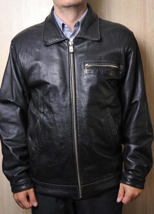 Кожаная куртка осенняя без синдипона в подкладке
