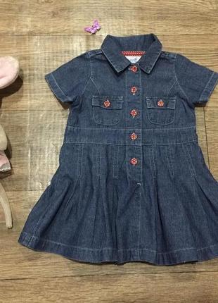 Восхитительное джинсовое платье early days,на 6-12 мес!состоян...