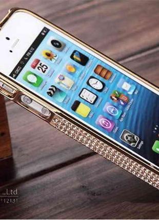 Бампер с камнями стразами Iphone 4/4s 5/5S