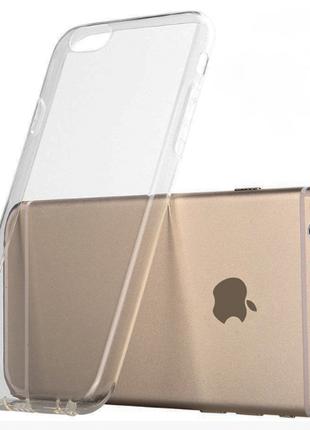 Силиконовый чехол для Iphone 6, 7, 6s, 7s Plus супертонкий 0.3 мм