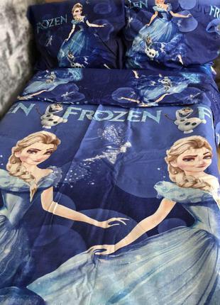 Полуторный комплект постельного белья холодное эльза