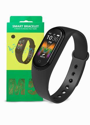 Фитнес браслет трекер часы цветной экран M5 Fit Smart Mi Band