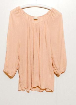 Блуза блузка туника цвета нежный персик saint tropez