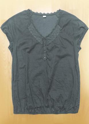 Серая блуза блузка хлопок s.oliver