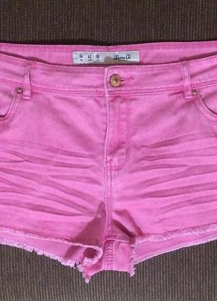 Джинсовые короткие розовые шорты denim co на бедра 106-107 см