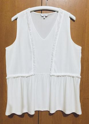 Белая блузка блуза без рукава next пог 57 см