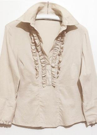 Бежевая блузка блуза next eur 40 телесная